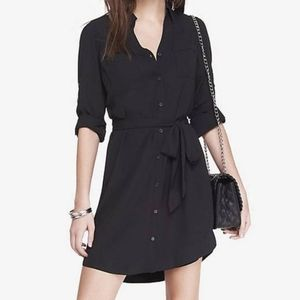 Express back shirt dress